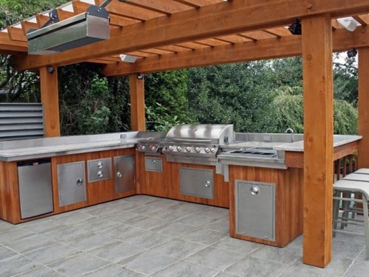 Covered Rustic Outdoor Kitchen Rustic Outdoor Kitchens Designs Ideas With Poo