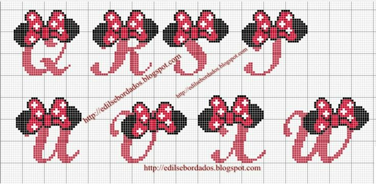 Connu Font minnie punto croce 3 | Disney | Pinterest | Punto croce  AS39