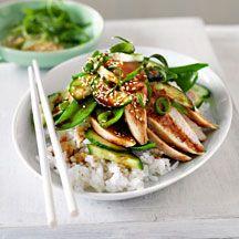 Japanse kip met rijst