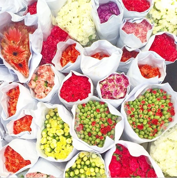 Find beautiful fresh blooms at the bustling, open-air Hong Kong Flower Market.