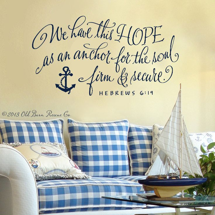Good Nautical Wall Stickers Part - 4: Wall Decal Vinyl Wall Sticker - We Have This Hope...bible Verse With