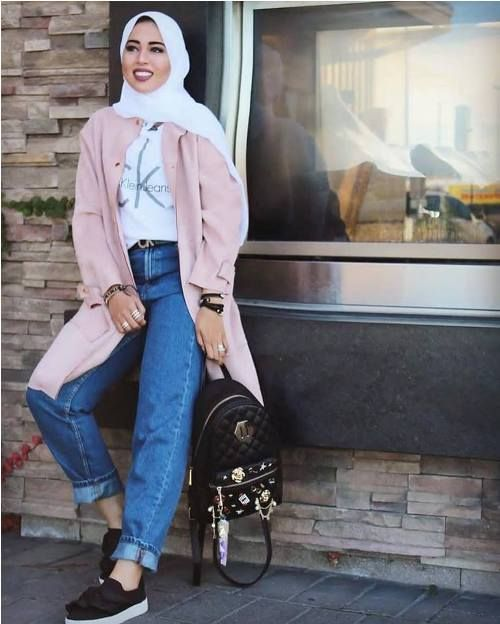 Jeans Boyfriend Style Celana Hijab N0opwk BoWEerxQdC