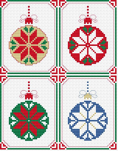 Set of 4 Christmas Cards  SEE MORE ON THIS PINTEREST BOARD http://www.pinterest.com/kaym24/hama-beads/