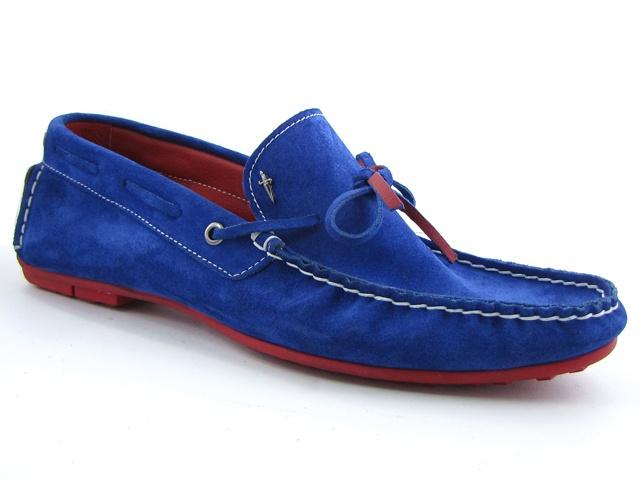 Cesare Paciotti Men's Moccasins Sax Blue Suede | POOZ.com | Private Shopping Club