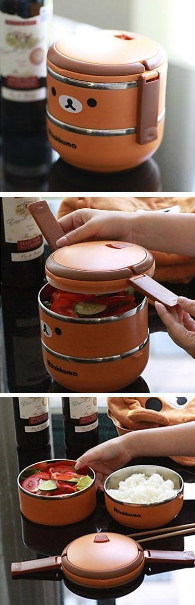 Hola a tod@s . Aquí les muestro un tupper o contenedor para el lunch de Rilakkuma.Estee lo pueden conseguir en una tienda de internet llamada miniinthebox.com .