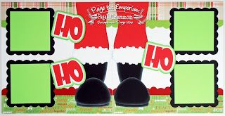 Christmas Santa HO HO HO Scrapbook Page Kits