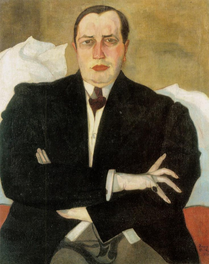 Portrait of Leon Chwistek by Witkacy, 1913