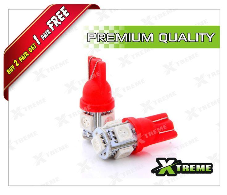 XTREME-in 5 SMD 5050 LED RED COLOR T10 SOCKET CAR BIKE PARKING INDICATOR LIGHT
