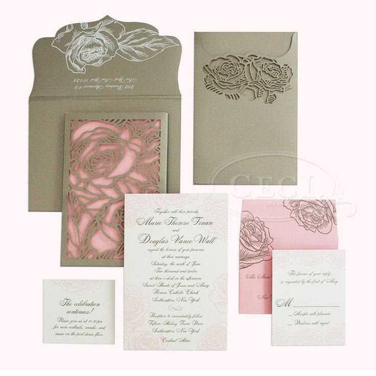 luxury wedding invitations dallas%0A Luxury Wedding Invitations by Ceci New York  Romantic Rose  completely  stunning