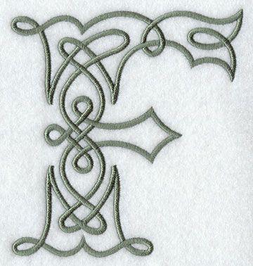 Celtic Knotwork Letter F - 5 Inch