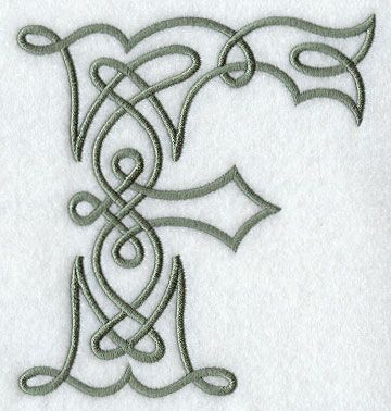 Celtic Knotwork Letter F - 5 Inch