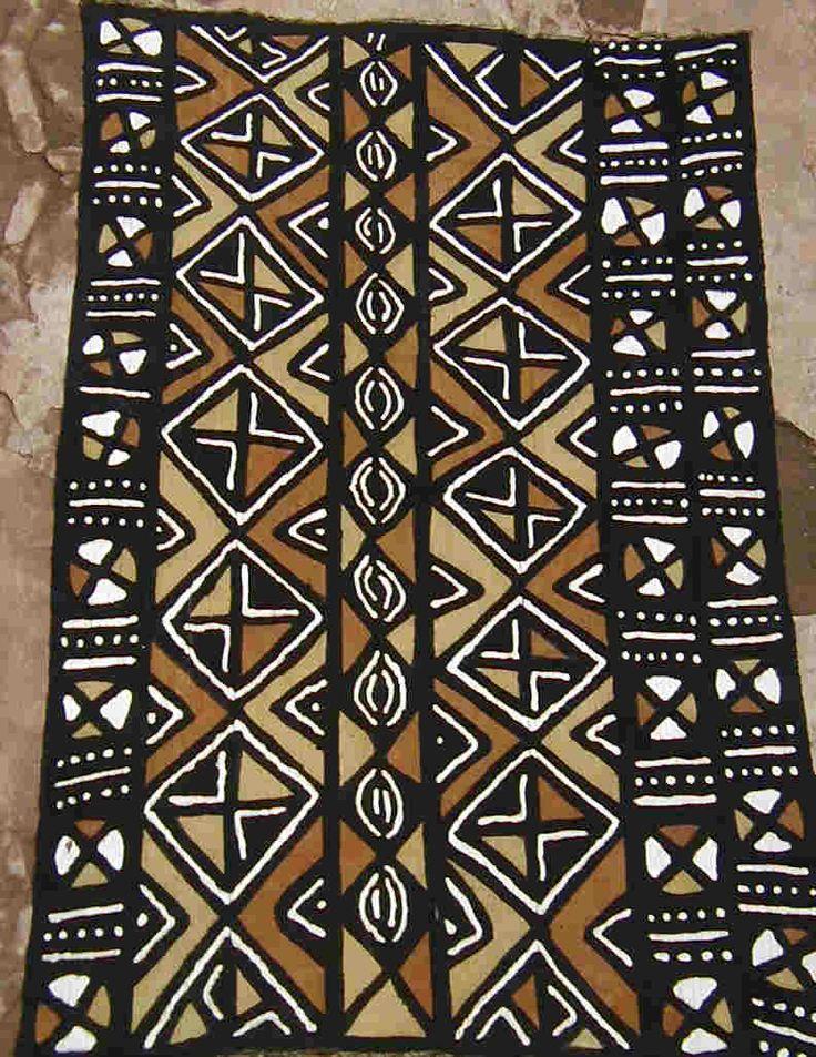 african mud cloth | Tecidos africanos: Bogolanfini