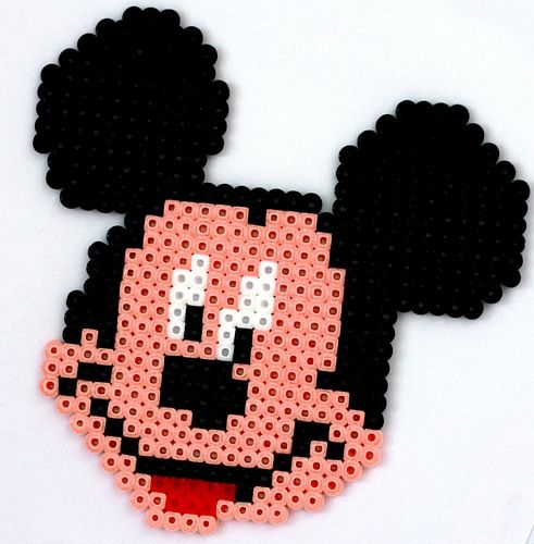 Mickey Mouse /  Perler Beads - Hama perlen - Bügelperlen