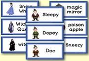 Sneeuwwitje: woordkaartjes.