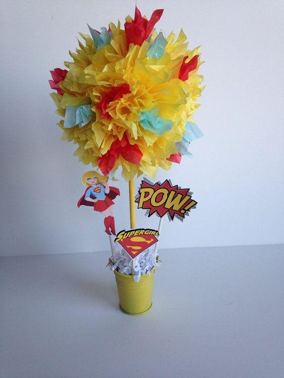 Super Woman Super Hero birthday party by AlishaKayDesigns on Etsy, $12.00