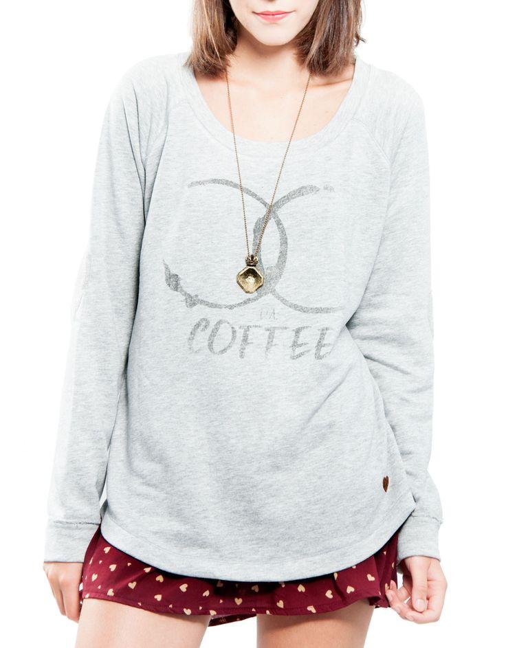 Felpa coderas corazón 'coffee' Double Agent 14,99€ www.doubleagent.es #fashion #new #clothes