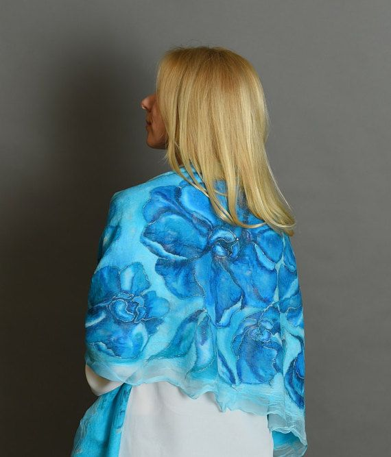 Fashion Scarves  Blue Scarves  Scarf Wrap  Turquoise Scarf