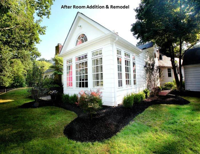 Exterior View Of Sunroom Addition