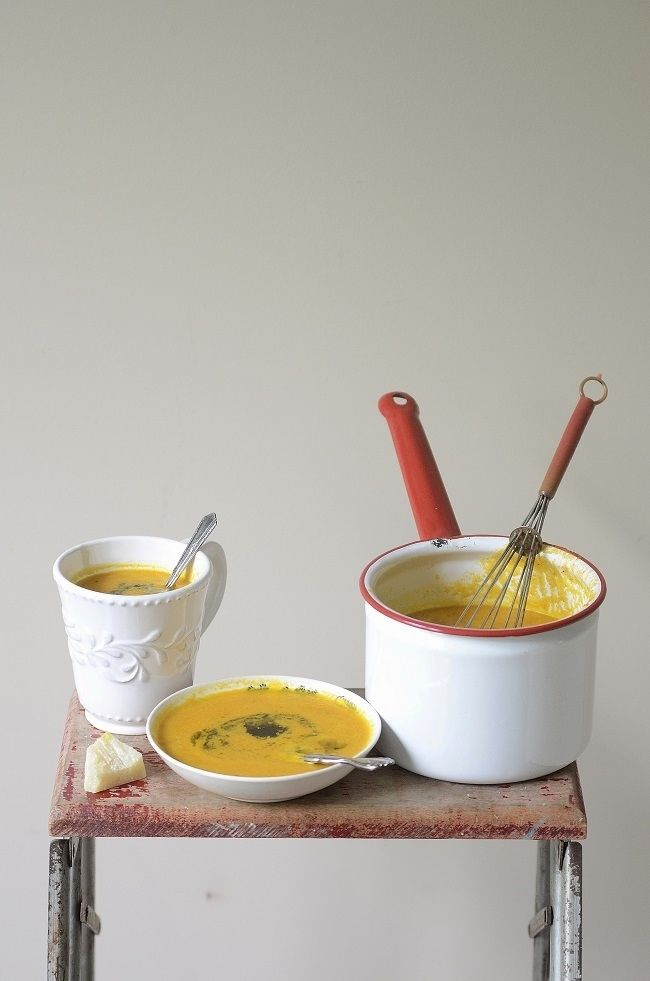 carrot and ginger soup.