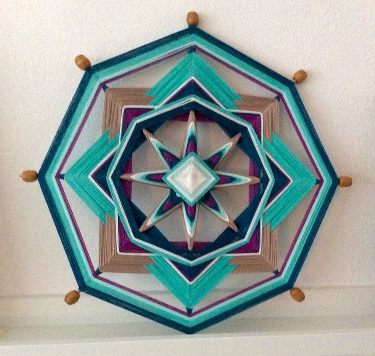Mandala weaving nr. 1 Made by Els van der Lugt 11-2014