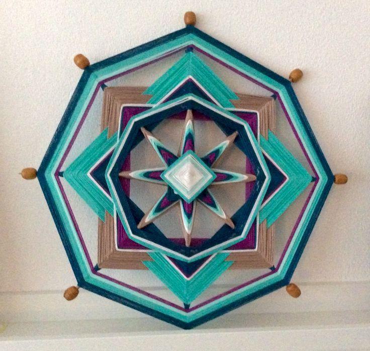 Mandala weaving nr. 1 Made by Els van der Lugt 11-2014