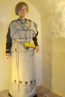 Female dress from Saramäki (Turku) around year 1000, finnish Iron age  Scroll down the blog page to find two pictures of this which can be made larger.