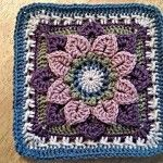 Crocodile Stitch – Dahlia FREE Granny Square Pattern