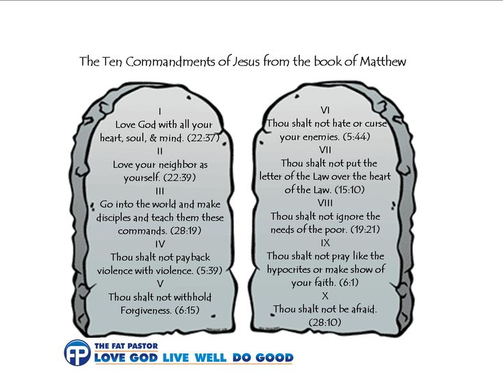 images of the ten commandments | The 10 Commandments of Jesus