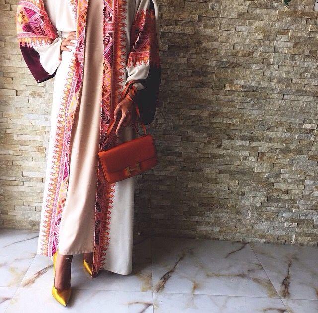 Colourful open #abaya#modestfashion