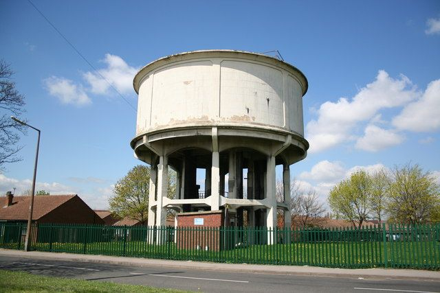 New Rossington Water Tower, Nr Doncaster, South Yorkshire.