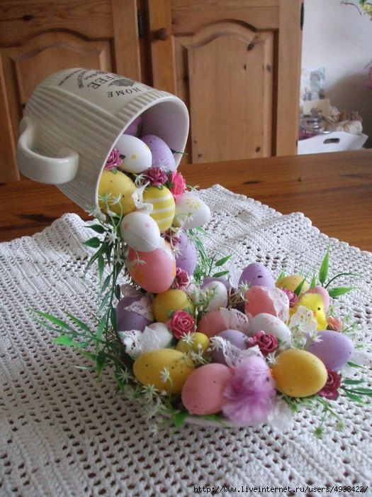 Easter decor tutorial, not in English but good pictures