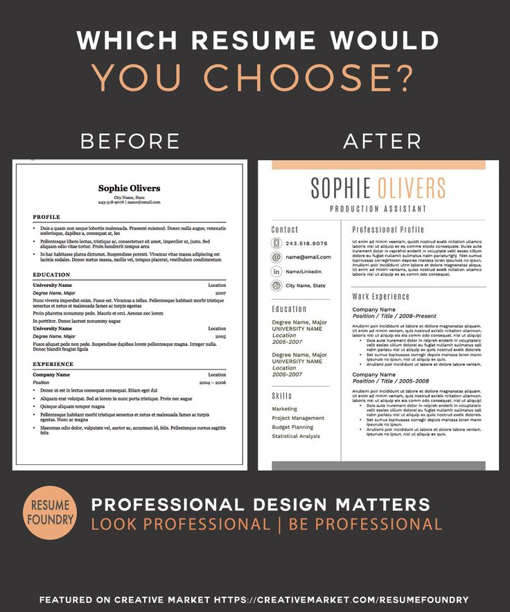 stylish resume template the sophie