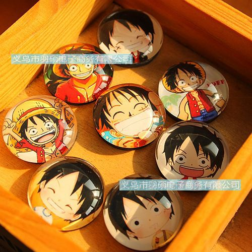 1pcs 25mm Cute Small Monkey D. Luffy Fridge Magnets Crystal Glass Refrigerator Magnetic //Price: $7.00 & FREE Shipping //     #onepieceluffy #onepiecefigure #dluffystore
