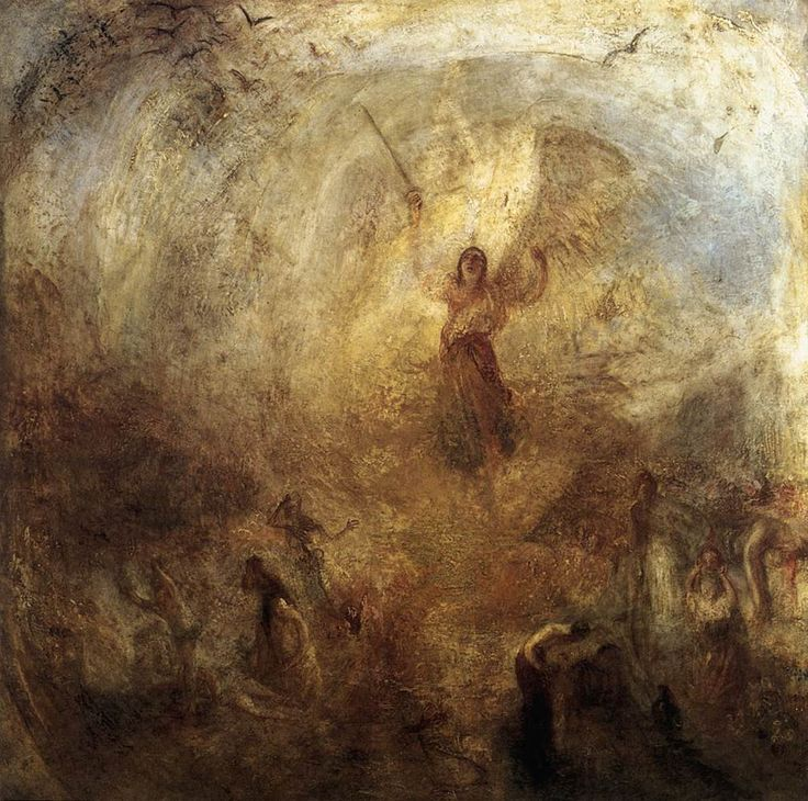 The Angel Standing in the Sun (1846) Joseph Turner #art #classic