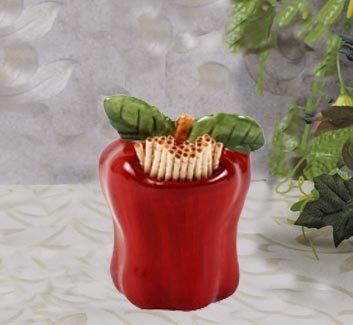 Apple toothpick holder new by kmc kk apple for Home interiors apple orchard collection
