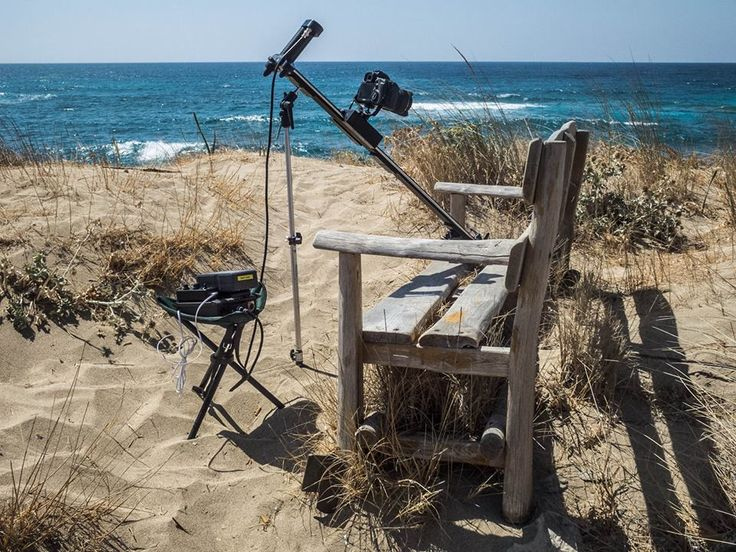 Going Vertical in Greece.  Using a motorized slider on the sand? With SmartSLIDER PRO and DigiDRIVE Basic you can! http://www.smartsystem.it