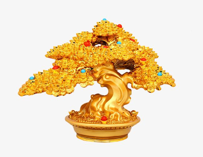Golden Money Tree Gold Decoration Money Tree Png Image And Clipart Money Trees Tree Images Tree