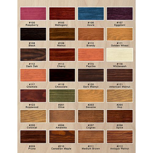 Saman wood stain saman interior wood stain rona - Cabot interior stain color chart ...