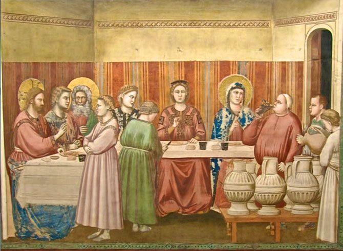 Nozze di Cana Giotto, 1303-1305, Cappella Scrovegni Padova