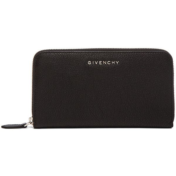 GIVENCHY Pandora Long Zip Around Wallet (9 935 ZAR) ❤ liked on Polyvore featuring bags, wallets, handbags, real leather wallet, givenchy wallet, long wallet, leather pocket wallet en leather bags
