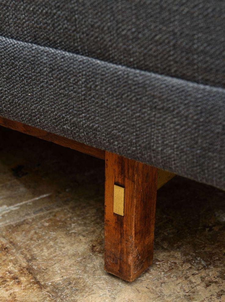 paul mccobb sleek midcentury modern vintage sectional sofa