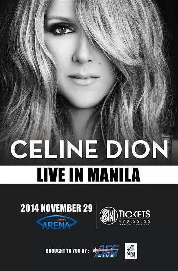 CELINE DION LIVE IN MANILA <3 <3 <3