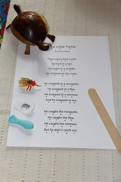 Montessori-Inspired Poetry Activities (Photo from http://chasingcheerios.blogspot.com/2011/07/our-summer-poetry-basket.html  Roundup post from http://livingmontessorinow.com/2012/04/24/montessori-inspired-poetry-activities/). Lots of ideas for both parents and teachers - preschool through elementary.