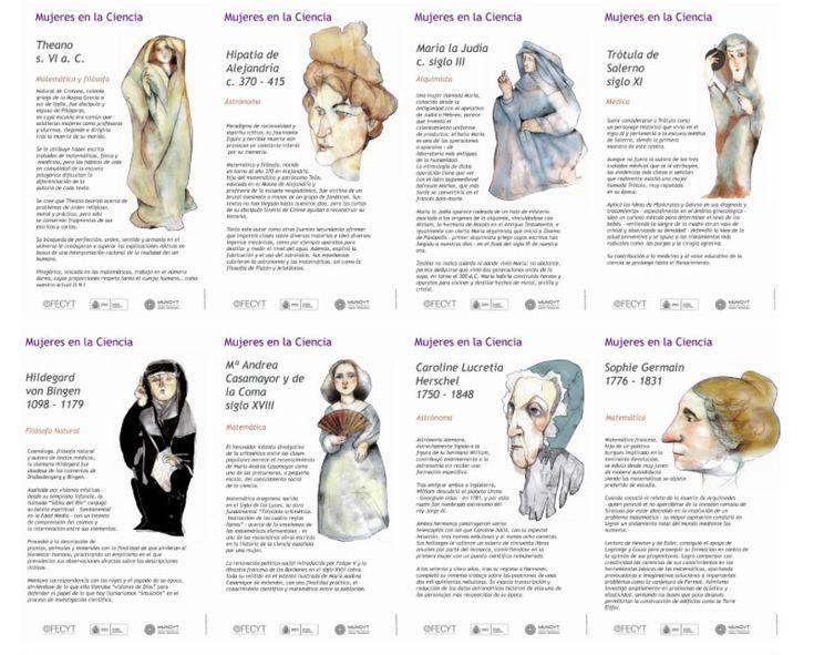 Como se suele decir, no están todas las que son, pero son todas las que están, y la lista podría ser otra, pero estas son 27 mujeres que jugaron un papel fundamental en la historia de la investigación científica. Para verlo completo, acceder a la fuente.