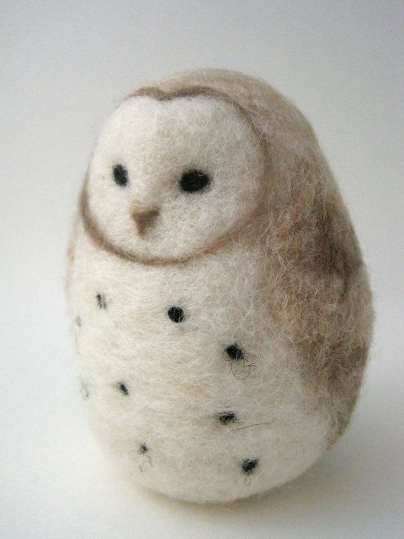 Needle Felted Owl by Woolnimals on Etsy