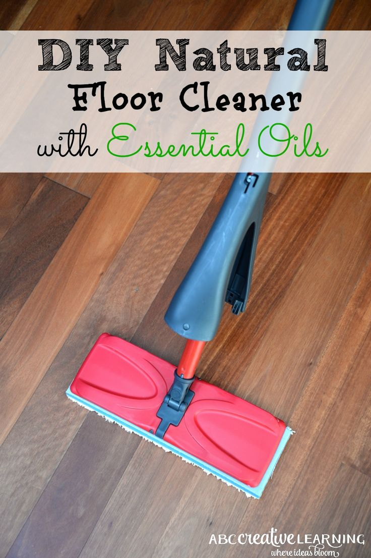 I don't know about you but with 2 kids and 2 dogs my floors never feel clean! Until I tried this DIY Natural Floor Cleaner with Essential Oils! Smells and feels clean! - abccreativelearning.com