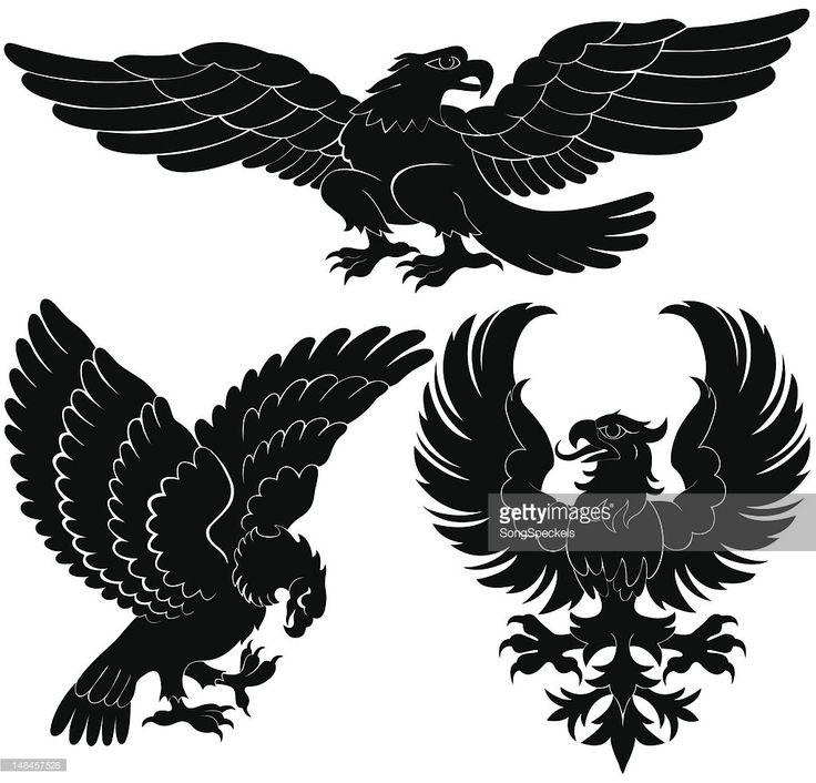 Arte vectorial : De aves de rapiña Heraldry diseños