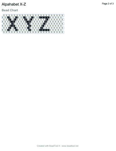 Beaded Alphabet for Peyote Stitch or Brick Stitch Free Beading Pattern: Beaded…