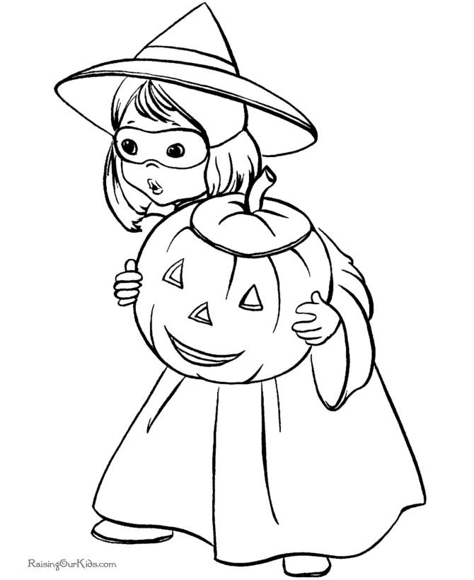 25 best halloween coloring pages ideas on pinterest for Cute halloween coloring pages free