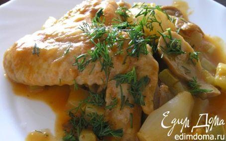 Курица в белом вине | Кулинарные рецепты от «Едим дома!»